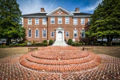 Le public du Delaware archive le bâtiment à Douvres, Delaware Image libre de droits