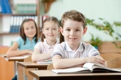 Le pupille sono molto attente alle lezioni Immagini Stock Libere da Diritti