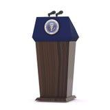 Le pupitre présidentiel Images stock