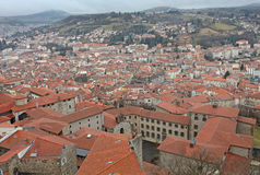 Le Puy en Velay from above, France Royalty Free Stock Photography