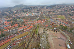 Le Puy en Velay from above, France Royalty Free Stock Photo