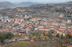 Le Puy en Velay aerial view, France Royalty Free Stock Photo