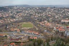 Le Puy en Valay von oben, Frankreich Lizenzfreies Stockbild