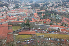 Le Puy en Velay from above, France Royalty Free Stock Photos