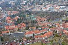 Le Puy en Velay from above, France Royalty Free Stock Images