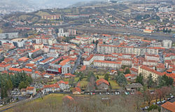 Le Puy en Velay from above, France Stock Images