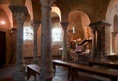 Le Puy en Velay, France. Chapelle Saint Michel de Aiguilhe in town Le Puy en Velay, France Royalty Free Stock Photos