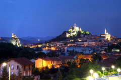 Le Puy-en-Velay at twilight, France Royalty Free Stock Photo