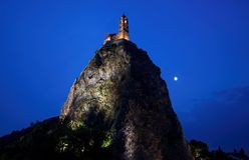 Le Puy Engelse Velay, Frankrijk. Stock Foto's