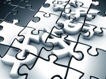 Le puzzle 3d de signes du dollar a rendu le dessin Images libres de droits