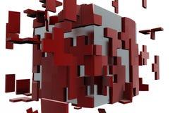 Le puzzle de cube démontent le concept Photos libres de droits