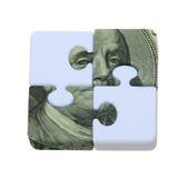 Le puzzle de l'argent images libres de droits