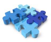 Le puzzle denteux a isolé Image stock