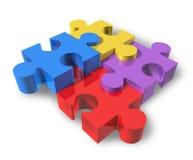 Le puzzle denteux a isolé Photo libre de droits