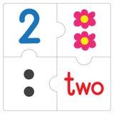 Le puzzle denteux number-2 Images stock