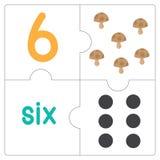 Le puzzle denteux number-6 Photographie stock libre de droits