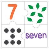 Le puzzle denteux number-7 Photos stock