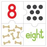 Le puzzle denteux number-8 Image libre de droits