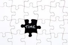 Le puzzle rapièce - avec du temps de mot dans l'espace absent Photographie stock libre de droits