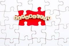 Le puzzle rapièce - avec la capacité de mot dans l'espace absent photos libres de droits
