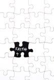 Le puzzle rapièce - avec la foi de mot dans l'espace absent image stock