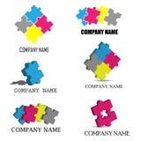 Le puzzle rapièce des logos Image libre de droits