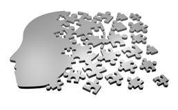 Le puzzle rendent le symbole Images libres de droits