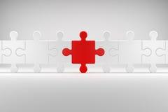 Le puzzle symbolise Team Spirit illustration libre de droits