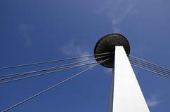 Le pylône du pont Photos stock