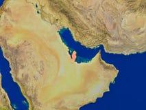 Le Qatar de l'espace en rouge Image stock