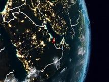Le Qatar de l'espace la nuit illustration de vecteur