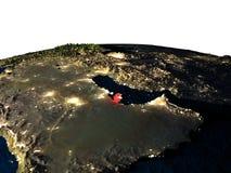 Le Qatar de l'espace la nuit Photographie stock libre de droits