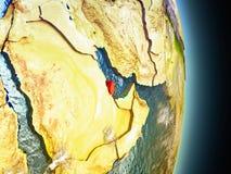Le Qatar en rouge de l'espace Image libre de droits