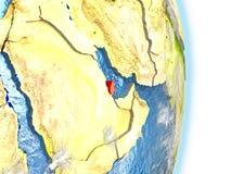 Le Qatar en rouge sur terre Photographie stock libre de droits