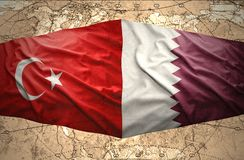 Le Qatar et la Turquie Image stock