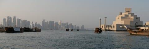 Le Qatar, panorama de Doha photo libre de droits