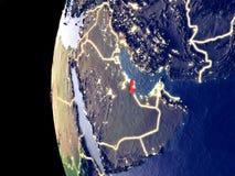 Le Qatar sur le globe de l'espace illustration de vecteur