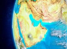 Le Qatar sur terre de l'espace Photo libre de droits