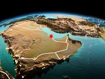 Le Qatar sur terre de planète dans l'espace illustration de vecteur