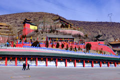Le Qinghai Xining : saint de neuf jours de grand kunlun - montagne de MaLong Phoenix Photos libres de droits