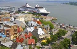 Le Québec abaissent la ville Photos libres de droits