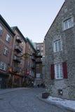 Le Québec, Canada - 3 février 2016 : Vieille vue de Québec, un UNES Photographie stock libre de droits