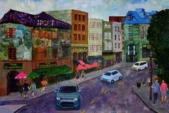 Le Québec, Canada - peinture acrylique originale image libre de droits