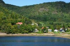 Le Québec, le village de Sainte Rose du Nord Photographie stock