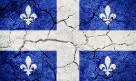 Le Québec, province de Canada, drapeau Photo stock