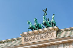 Le quadriga de Porte de Brandebourg Image libre de droits