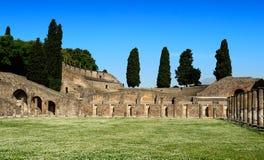 Le Quadriportico (casernes de gladiateurs), Pompeii images stock