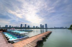 Le quai de bateau Photo libre de droits