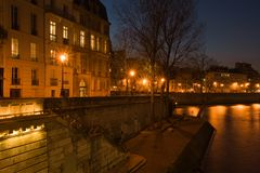 Le quai de Bourbon stock photos