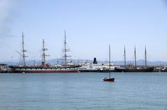 Le quai du pêcheur de bord de mer Image stock